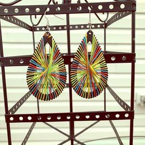 Jewelry - Multi Colored String Earrings